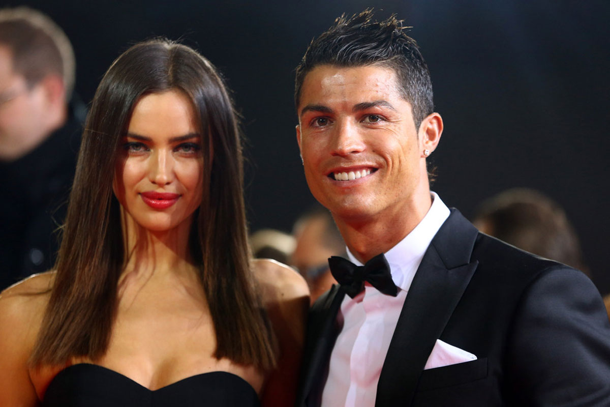 IRINA SHAYK and Christiano Ronaldo at FIFA Ballon d'Or Gala