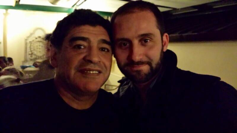 Diego Armando Maradona con Alessandro Migliaccio