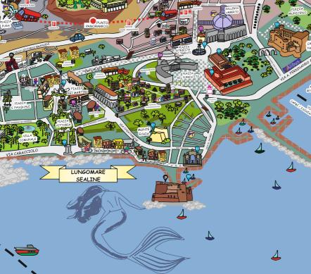 Cartina Monumenti Napoli.La Mappa Piu Innovativa Di Napoli Quick Chic La Citta A Fumetti Vomero Magazine