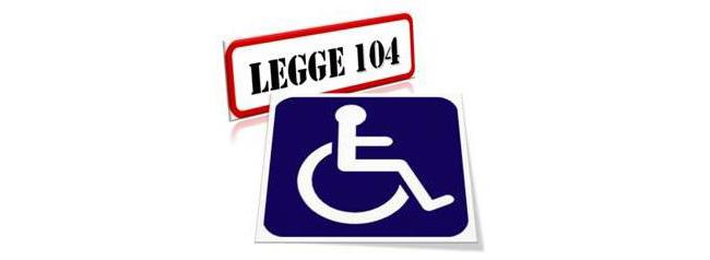 legge104 rubrica legale