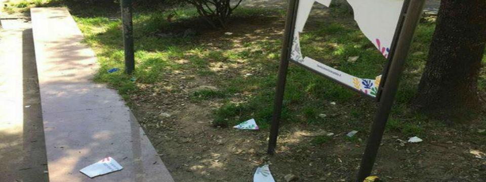 Giardini Ruotolo vandalizzati