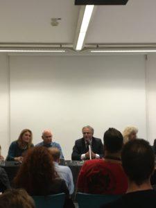 in foto a destra l'assessore Nino Daniele e a sinistra il fotografo Steve Mc curry