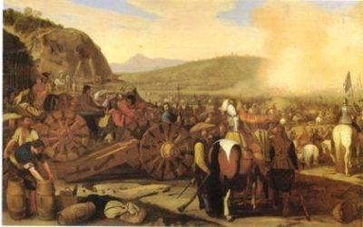 tav. 20 - Battaglia di cavalieri spagnoli