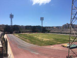 stato attuale della pista di atletica dello Stadio Collana, ormai chiuso da 100 giorni