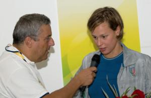 Carlo Verna con Federica Pellegrini